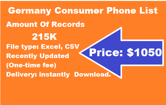 Germany Consumer Phone List