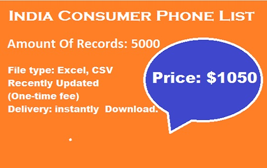 India Consumer Phone Lists