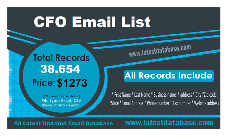CFO Email Address