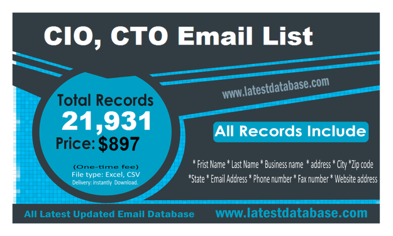 CIO & CTO Email Address