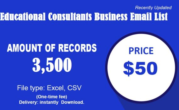 Educational Consultants business email list