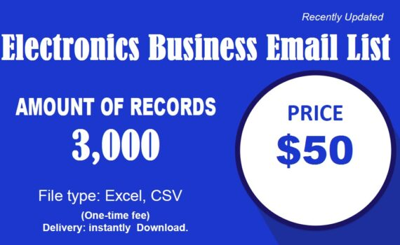 Electronics business email list