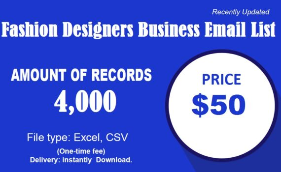 Fashion Designers business email list