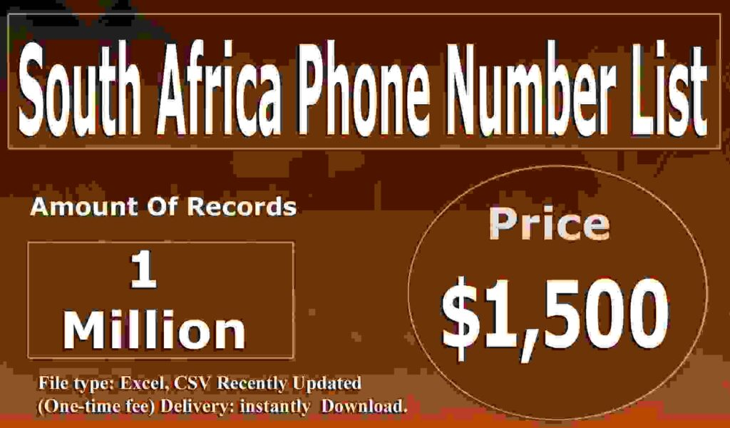 South Africa Phone Number List